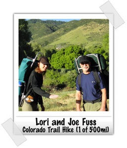 Joe Fuss - Lori Fuss hiking